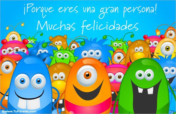 Somos muchos los que queremos.... Cumpleaños, ver tarjetas postales virtuales - TuParada.com