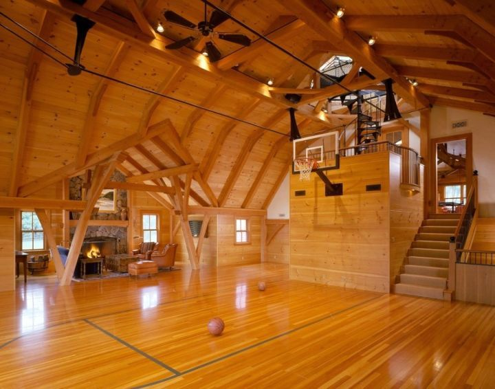 17 best ideas about home basketball court on pinterest for Home plans with indoor basketball court