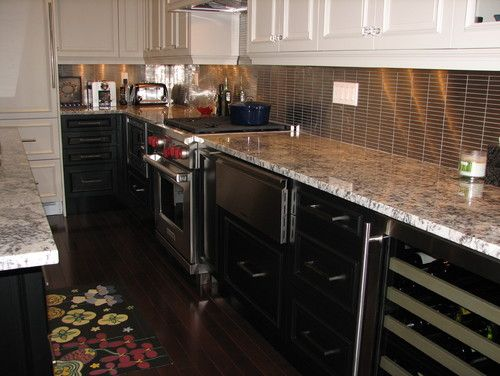 Lovely Kitchen Design With Kitchen Island White Cabinets Cold Springs Granite  Countertops And Hardwood Flooring