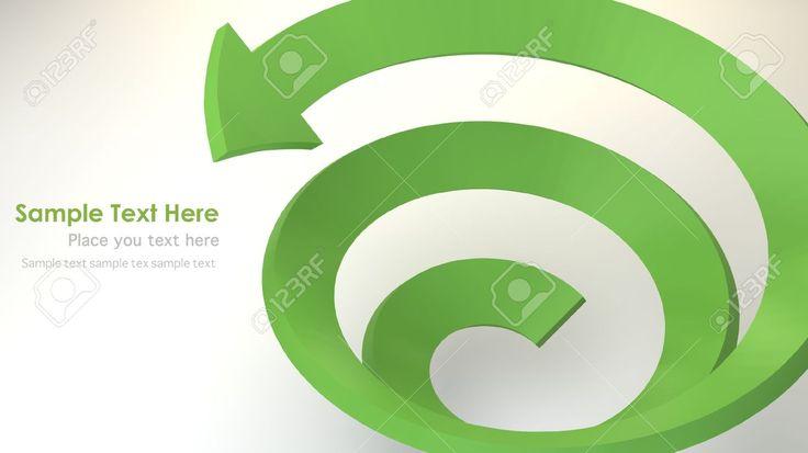 Зеленая стрелка 3D спиральные Фотография, картинки, изображения и сток-фотография без роялти. Image 14180195.