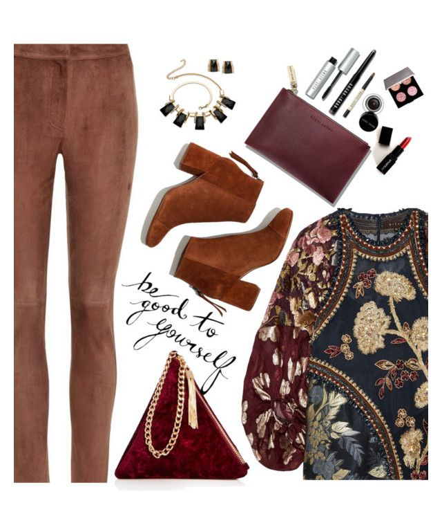 """""""Winter Textures"""" by juliehooper ❤ liked on Polyvore featuring Biyan, Loewe, Madewell, Palm Beach Jewelry, Bobbi Brown Cosmetics, Smashbox and Street Level"""