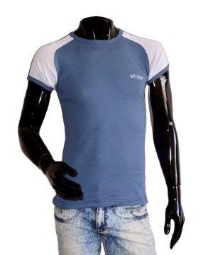 Светло-синяя мужская футболка Marco Masini