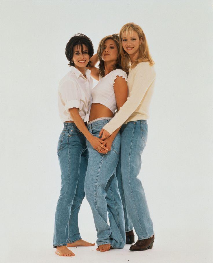 Rachel Green, Monica Geller & Phoebe Buffay. || . Jennifer Aniston, Courteney Cox & Lisa Kudrow.