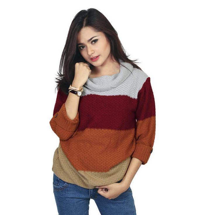 Sweater+Knit+/+Rajut+Kasual+Wanita+-+RZM+090Produk+fashion+handmade+asal+Bandung+dari+Brand+Raindoz+dibuat+dengan+bahan+yang+nyaman+digunakan,+desain+trendy+dan+tidak+pasaran.+Membuat+tampil+percaya+diri....