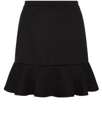 Inspire Black Drop Hem Skirt