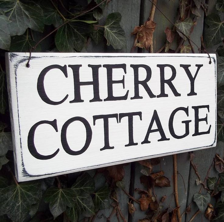 Personalised House Sign Vintage Style from notonthehighstreet.com