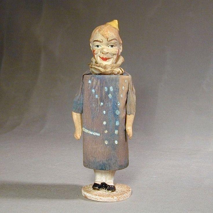 Victorian Clown Novelty Rattle