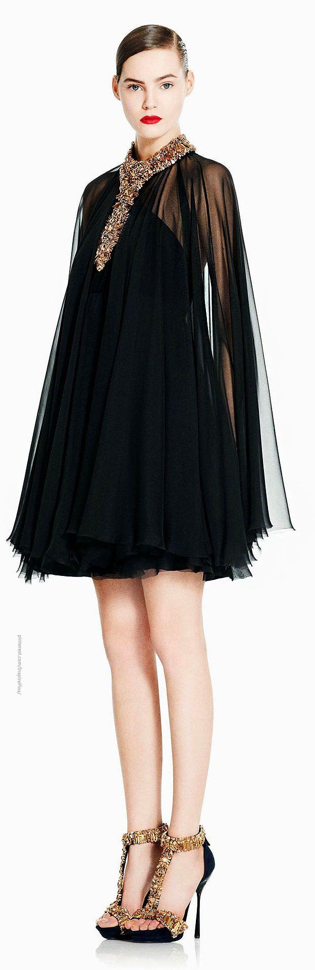 Alexander McQueen - Haute Couture - Black dress + gold heels