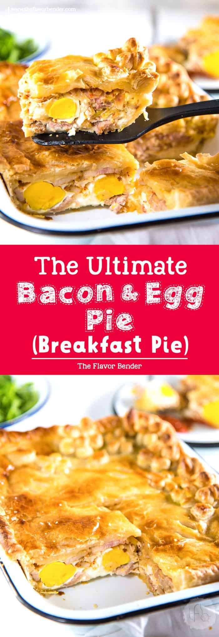 Ultimate Bacon and egg pies (breakfast pies) are a New Zealand classic with smokey bacon and eggs, leeks, cheese and flaky puff pastry! Perfect for breakfast, brunch or even as breakfast for dinner! via @theflavorbender