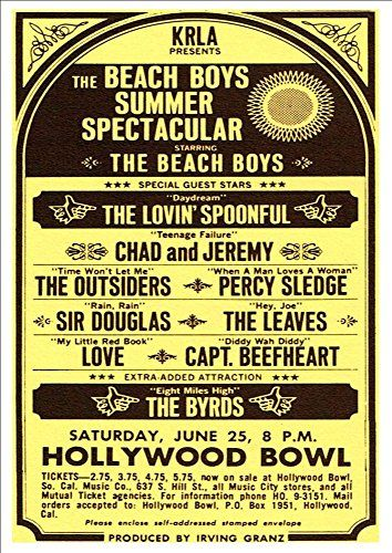 """The Beach Boys Summer Spectacular 1966."" Fantastic A4 Glossy Print Taken from A Vintage Concert Poster by Design Artist http://www.amazon.co.uk/dp/B0154XKGLU/ref=cm_sw_r_pi_dp_qle8vb18AM1MV"