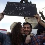Una manifestazione a favore del matrimonio civile a Beirut, in Libano. (Hussein Malla, Ap/Lapresse)