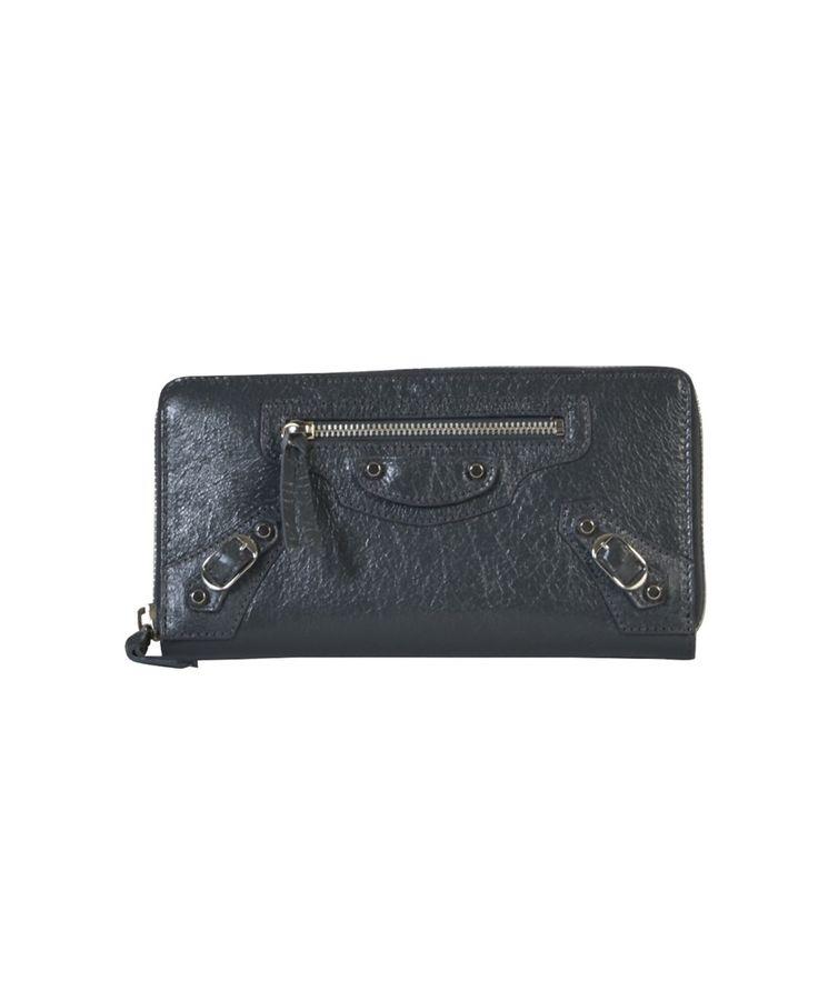 BALENCIAGA Balenciaga Women'S  Grey Leather Wallet'. #balenciaga #wallets