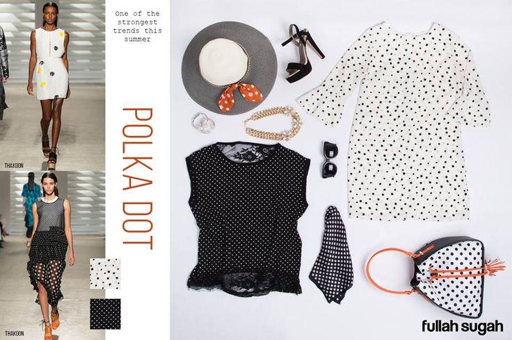 POLKA DOTS Δυναμική τάση για την νέα σεζόν. Παίξτε με το πιο girly, romantic, retro πουά και χαρίστε χαρακτήρα στο look σας. Το πουά δίνει ένα vintage τόνο στο στυλ σας και ανεβάζει την ανοιξιάτικη διάθεσή σας!