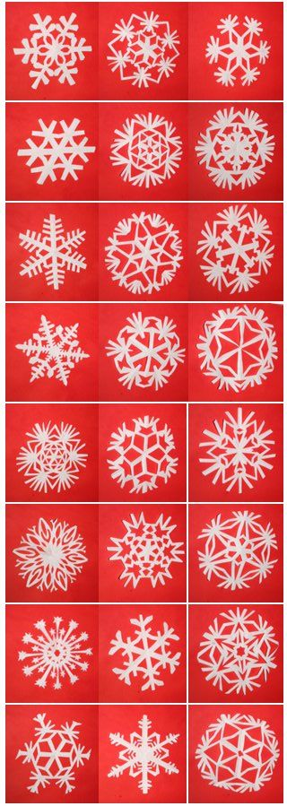 snowflake tutorials. coffee filters work great for intricate patterns