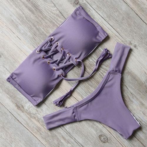 RXRXCOCO Frauen Push-Up gepolsterte BH Bandage Bikini Badeanzug Bademode Badeanzug RXRXCOCO Frauen Push-Up gepolsterte BH Bandage Bikini Badeanzug Bademode Badeanzug   – Swimsuits