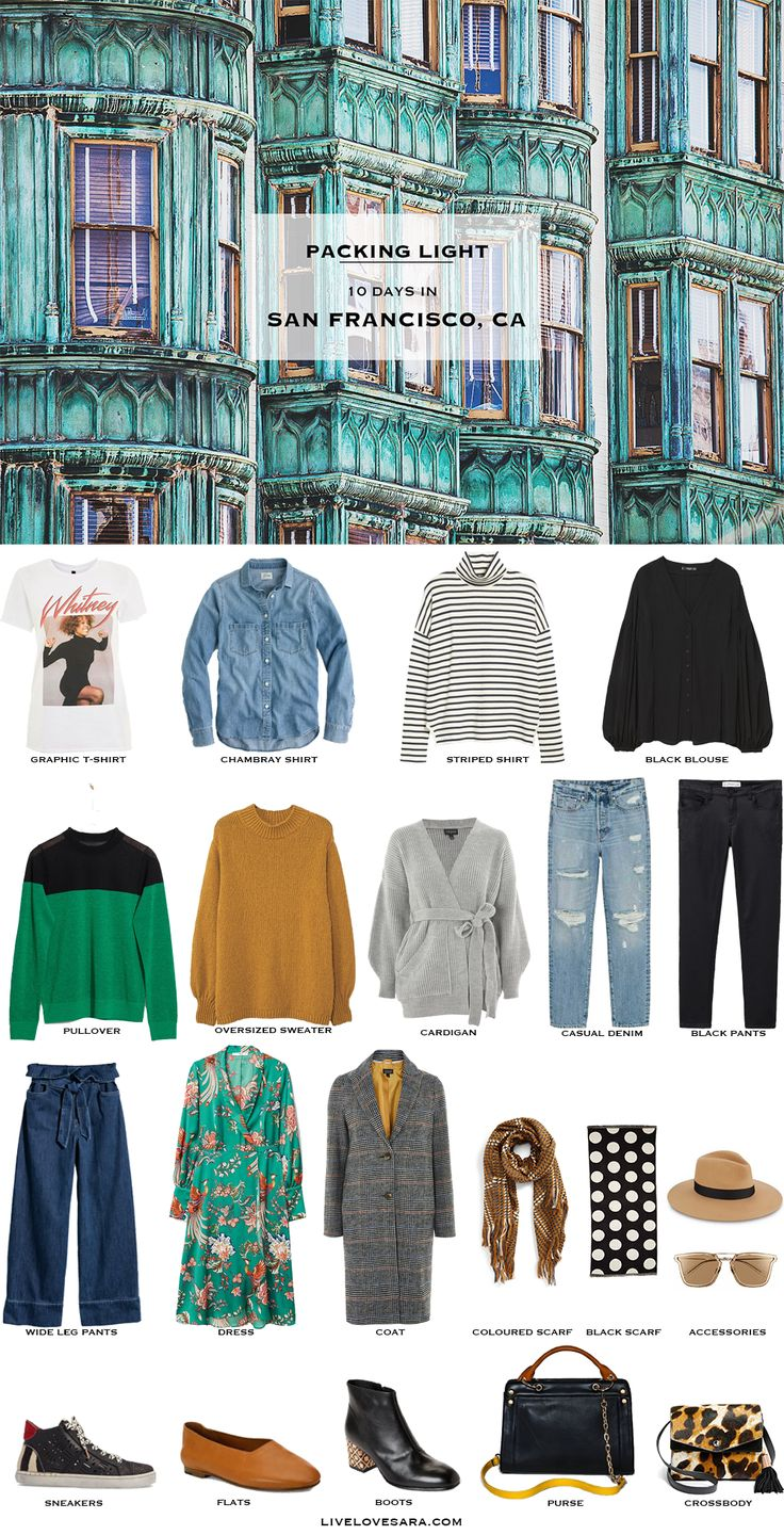 Packing Light | Packing List | San Francisco Packing | What to Pack | Capsule Wardrobe | Capsule | What to Pack | Travel Wardrobe |