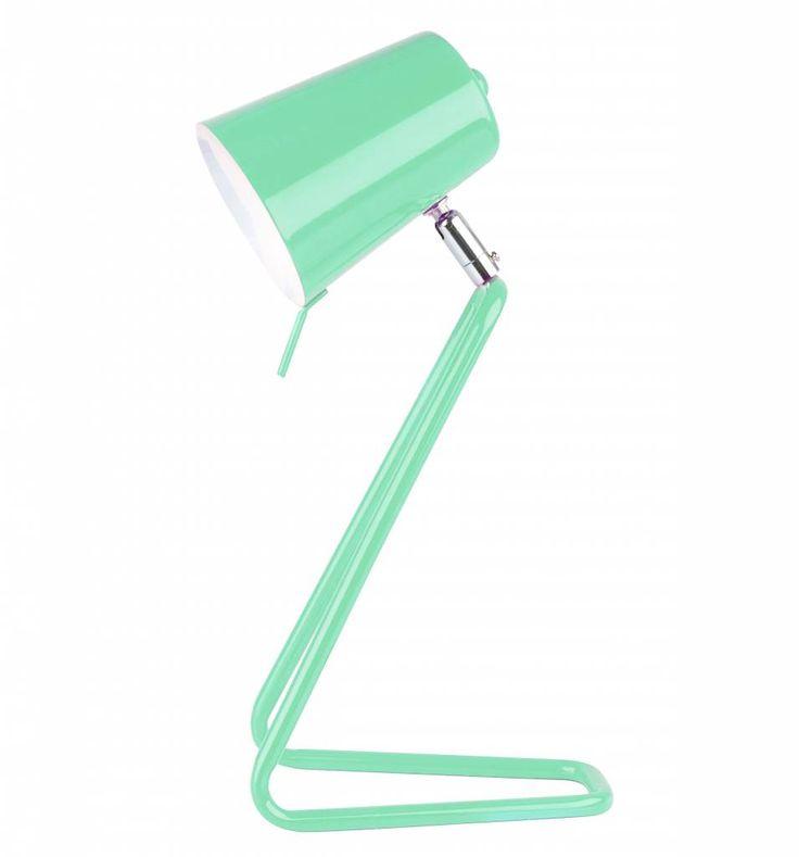 Leitmotiv Tafellamp 'Z' groen wit 16x35cm