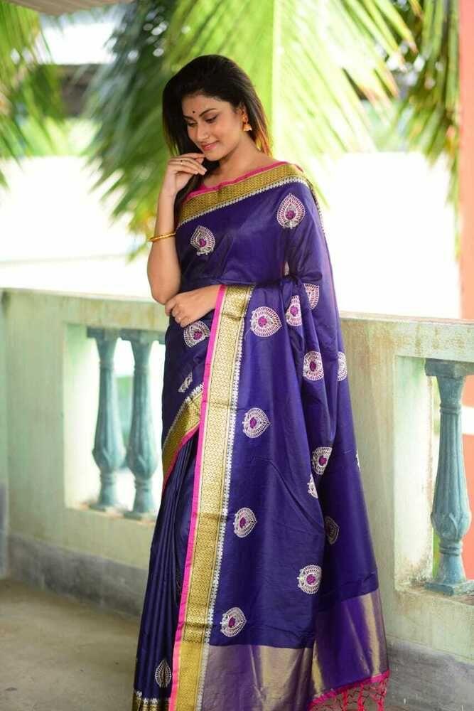 Lichi Silk Women Wear Bollywood Sari Special Wear Indian Wear Designer Sari A 39