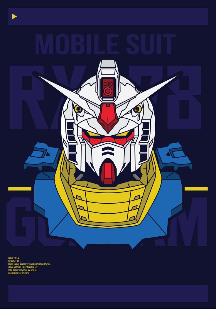 """Check out my @Behance project: """"Gundam RX-78"""" https://www.behance.net/gallery/46455961/Gundam-RX-78"""