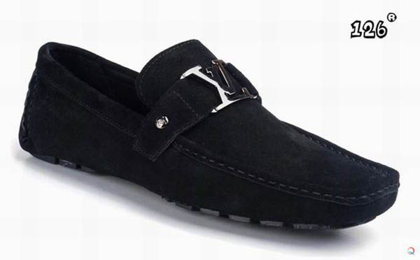Black Loafers for Men   LV metal accessory Louis Vuitton loafers for men black and white - $ ...