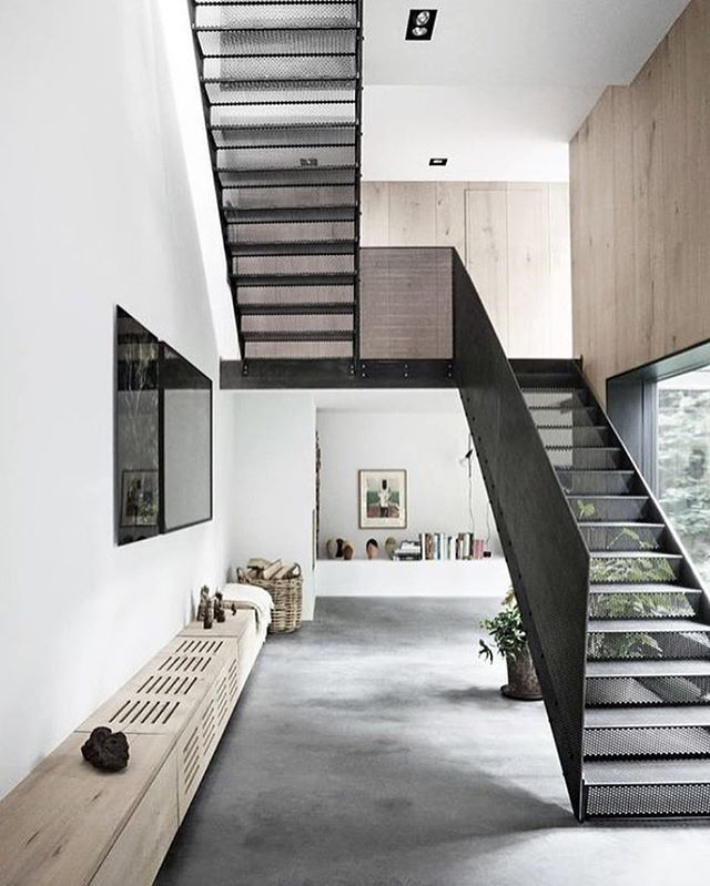 Those perforated steel stairs  Peters House by Studio David Thurlstrup located in Copenhagen - RG @designandlive