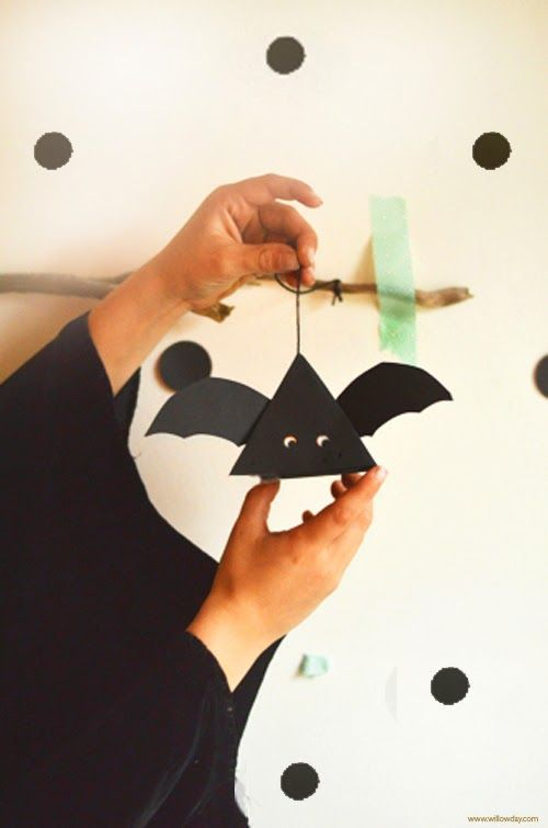 Printable Bat Lantern | willowday (use as gift boxes, decorations or as lanterns. Print + cut template for your to create Halloween Fun!)