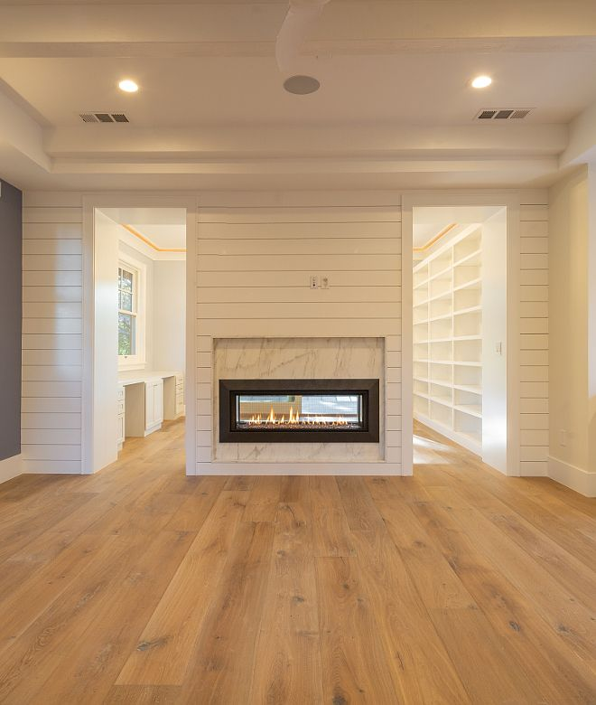Shiplap Fireplace Two Sided Shiplap Fireplace In Master Bedroom Separating The Main Area To The Bedroom Fireplace Remodel Farmhouse Fireplace Simple Fireplace