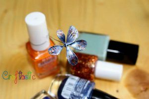 Easy Nail polish and wire flower decoration – DIY