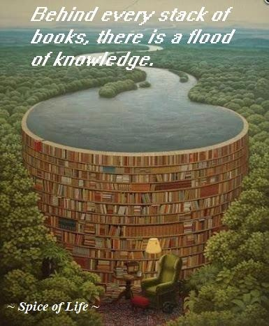 Behind every stack of books, there is a flood of knowledge.Libraries, Artists, Stacked Of Book, Dreams, Reading Book, Random House, Places, Rivers, Painting