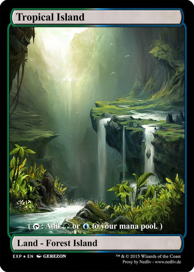 MTG - Altered Fullart Proxy - Tropical Island by Nedliv on DeviantArt
