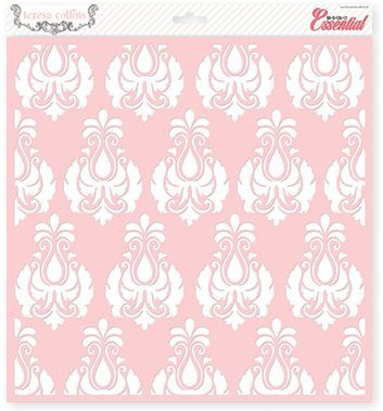 Basically Essential Damask Stencil by Teresa Collins Designs ...