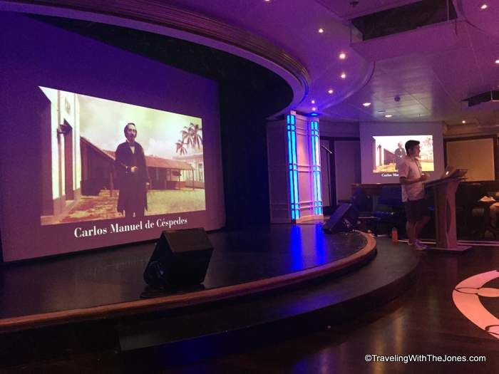 lecture on Cuba history on board the #fathom #Adonia cruise ship to Cuba