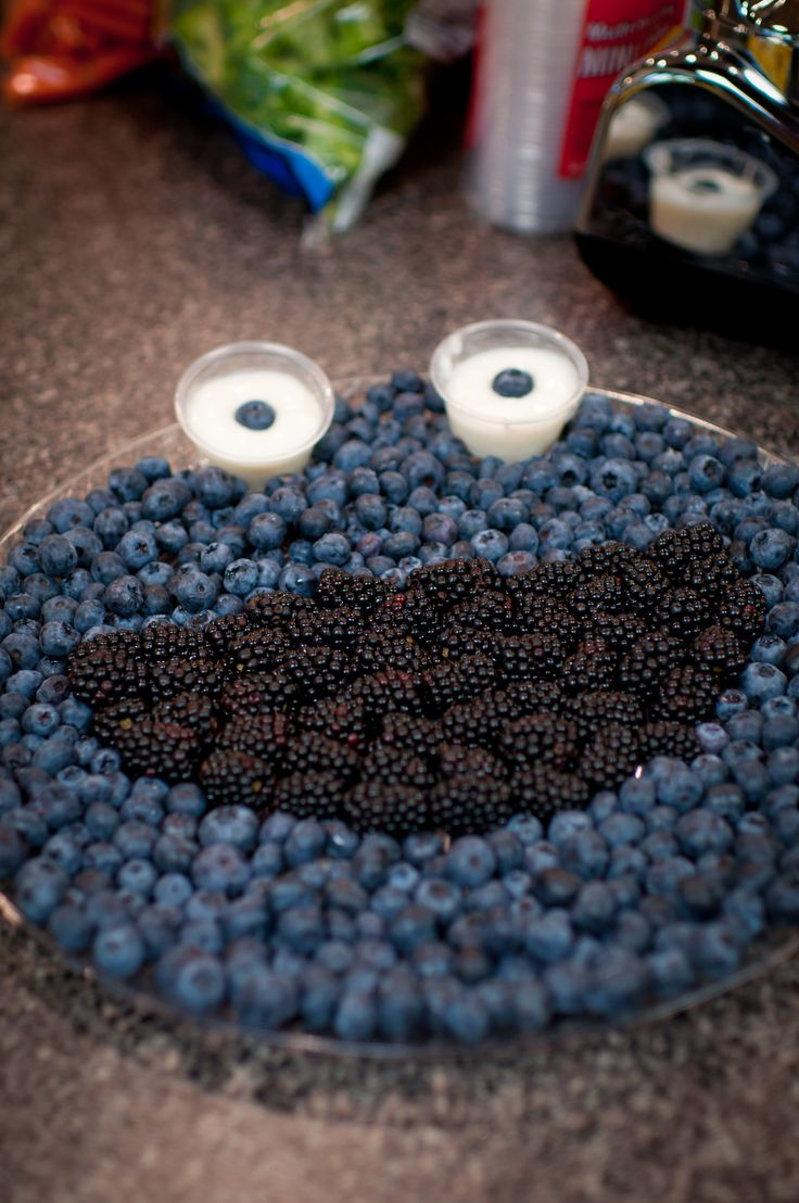 Cookie Monster Fruit Platter
