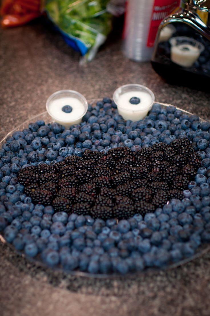 Cookie Monster Fruit Platter