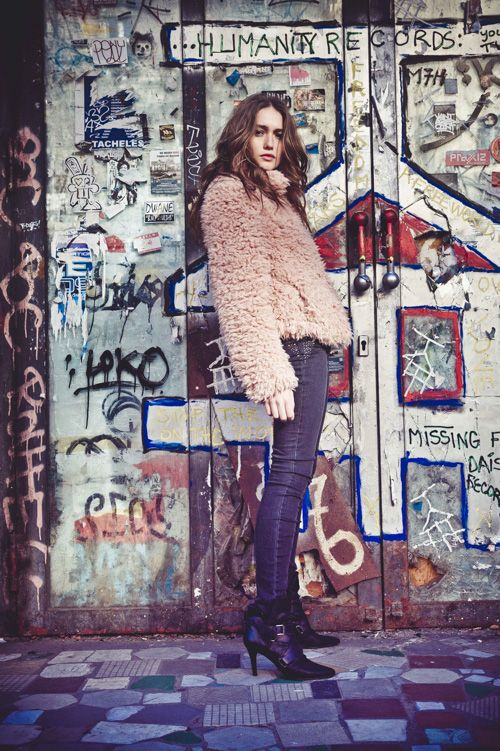 Look femme hiver 15, manteau I.CODE en fausse fourrure rose #FW15 #WomensFashion