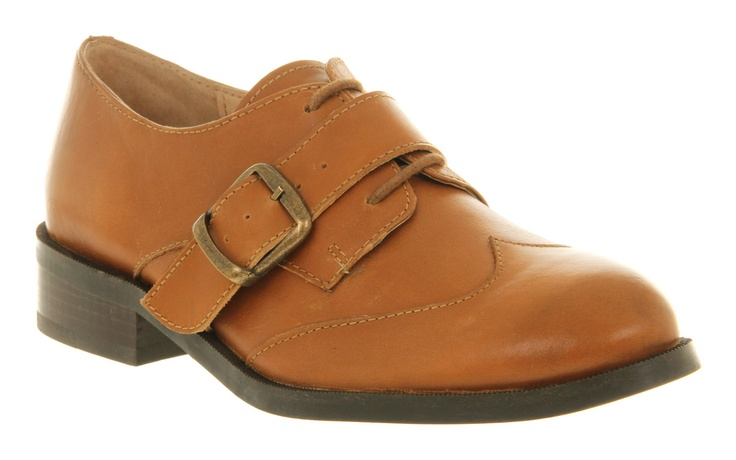 Office PORTER LACE UP TAN LEATHER Shoes - Womens Flats Shoes - Office Shoes