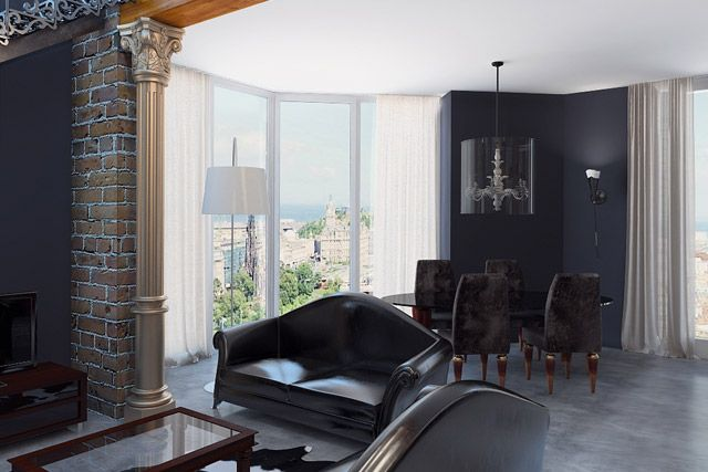 гостиная в стиле лофт с элементами классики - Поиск в Google