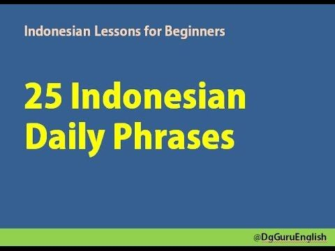 Learn Indonesian - Indonesian in Three Minutes - Greetings - YouTube