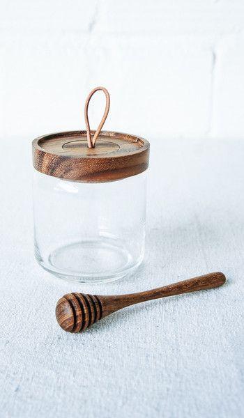 Acacia Honey Jar and Stick