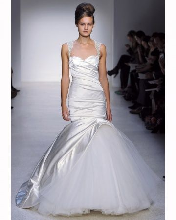 Kenneth Pool 2013 Trumpet Is A Statement For A Fearless Bride Who Wont Kill Classic But Trumpet Wedding Dressestrumpet