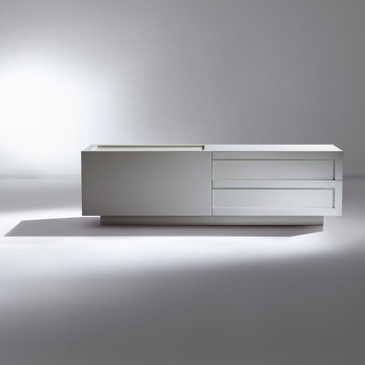 ML 21 by Leone & Mazzari. Wooden sideboard with drawers, made in all sample woods and matte brushed lacquering. | Laurameroni