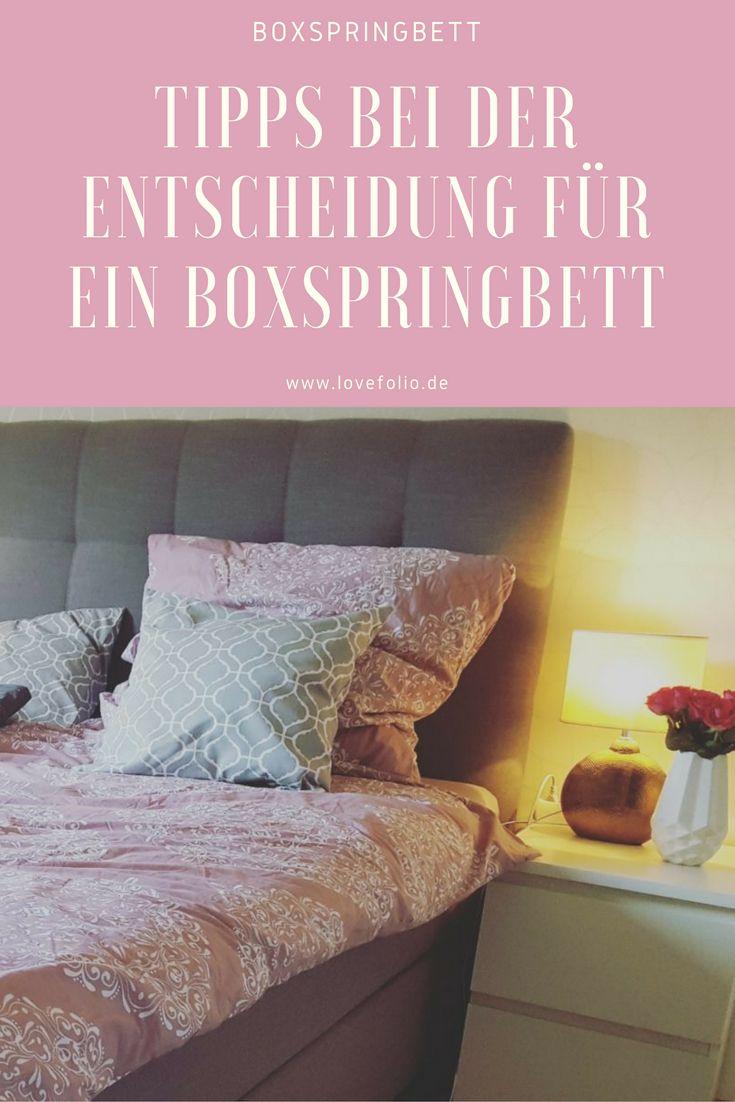 Boxspringbett, Bett, Schlafzimmer, Bedroom, Interior