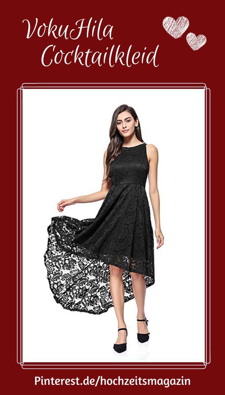 Kyerivs Damen Elegant Kleid aus Spitzen Ärmellos Cocktail ...