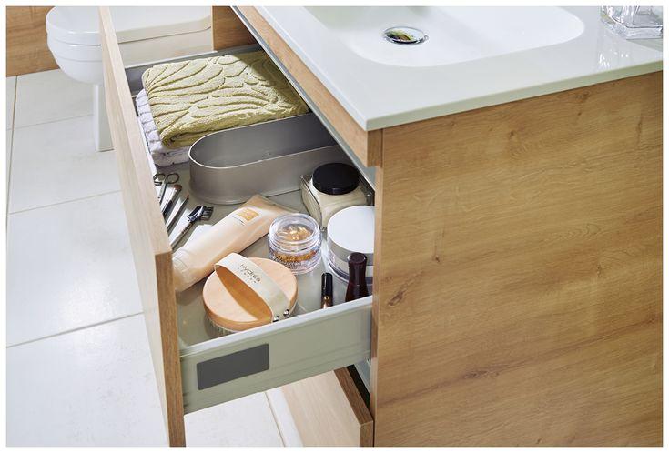 Spacious drawers keep bathroom clutter to a minimum #bathroomfurniture