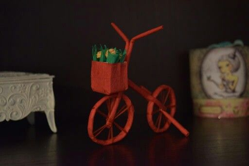 Paper decorative bicycle
