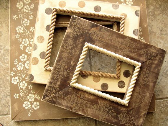 very cute distressed frames