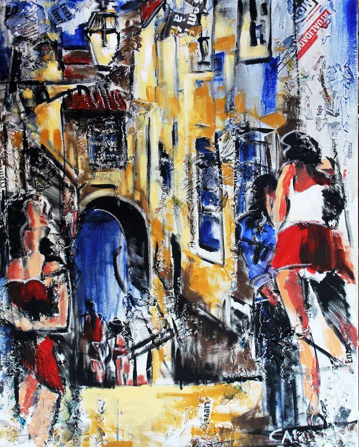 """Prostituta"" / ""Prostitute"" Técnica mista sobre tela / Mixed media on canvas 100 x 80 cm  2015"