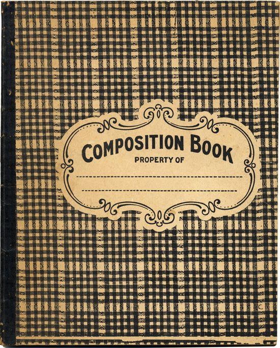 Besottment By Paper Relics: Free Download: Composition Book