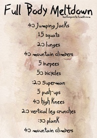 Do this and then do sprints through the house. I used my hallway. Great! :]