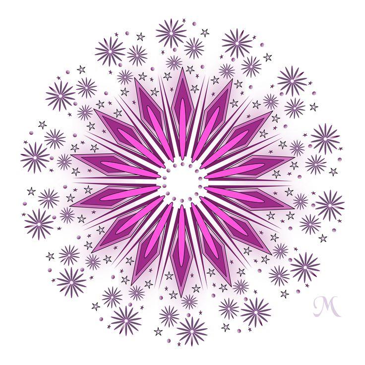 Pink Mandala created in Inkscape.